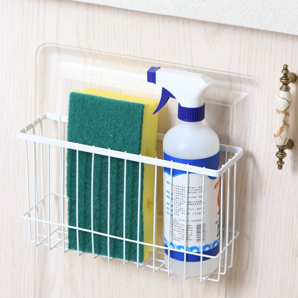 Kitchen Wrought Iron Storage Basket Simple Racks Spice Rack Bathroom ...
