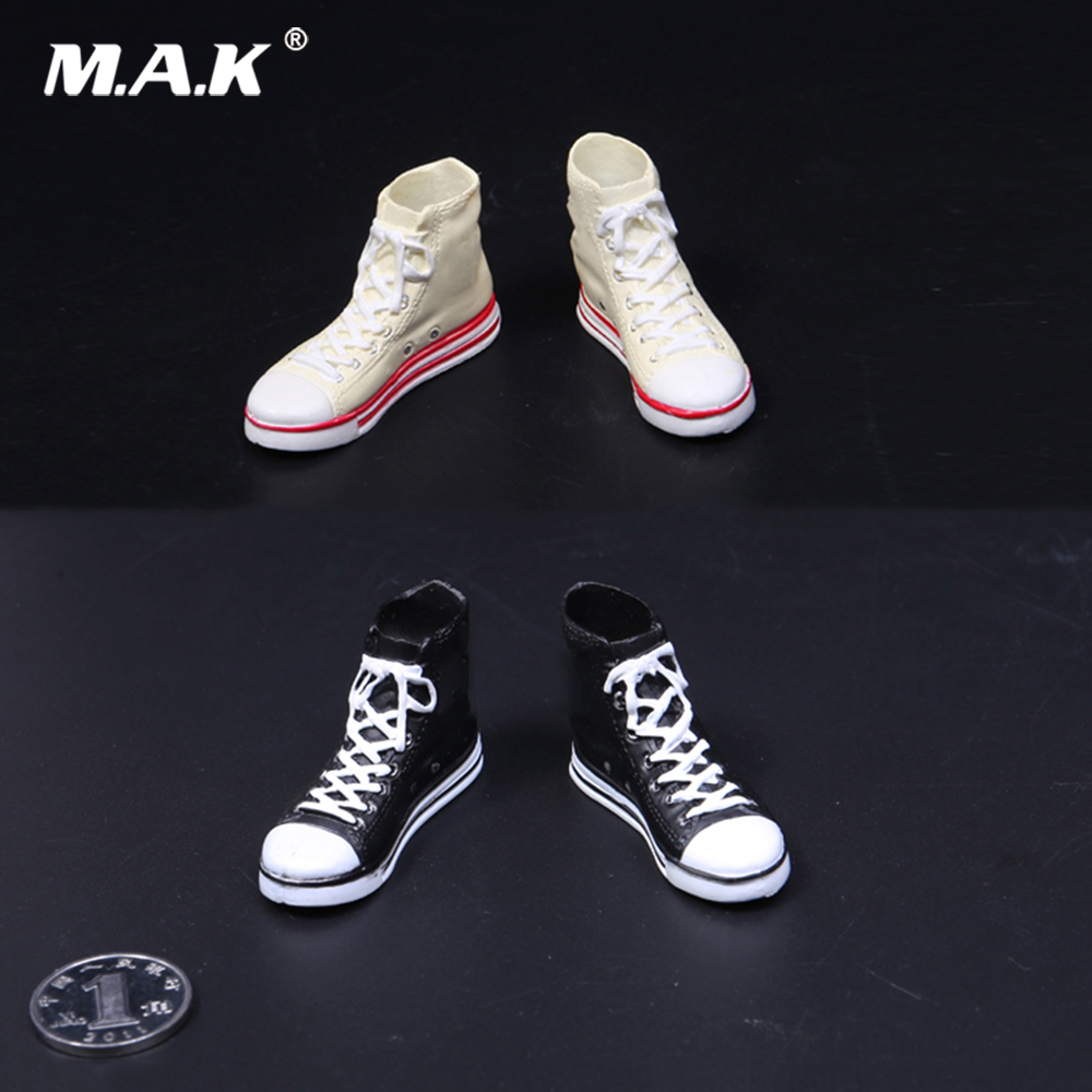 Action & Toy Figures Devoted 1/6 Scale Figure Accessory Female Casual Sports Shoes Canvas Shoes Model For 12 Figure Body Feet Removable Colours Are Striking