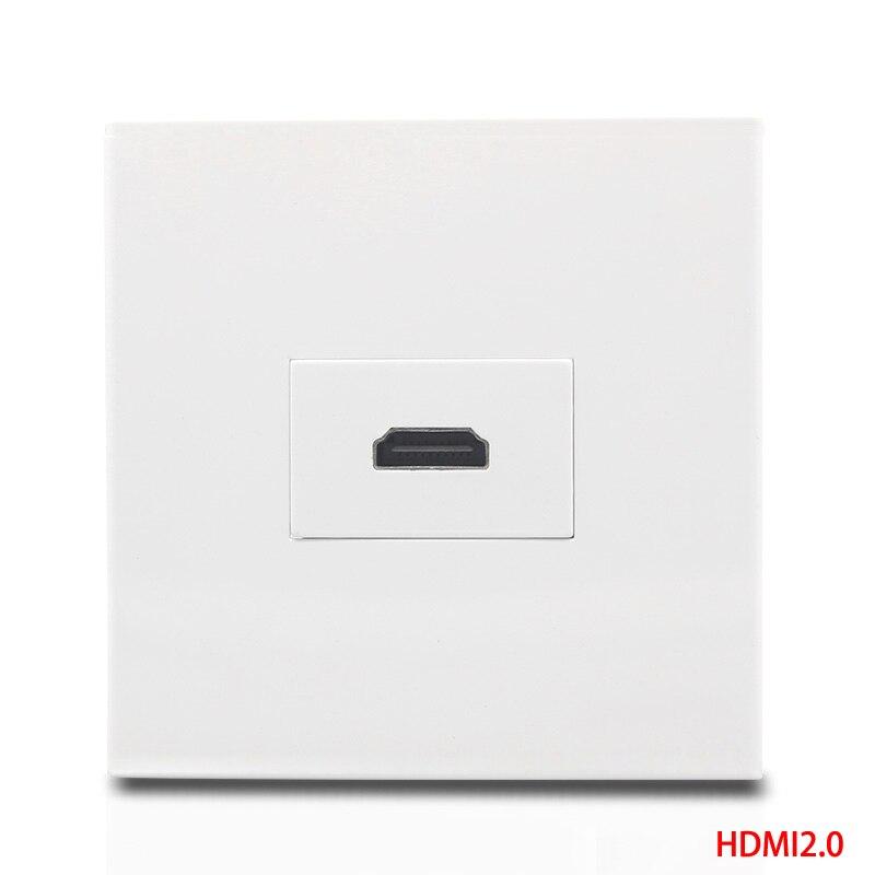 HDMI2.0 женский розетки белый Цвет HDMI Лицевая панель напрямую подключить