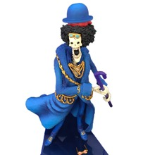 Anime Doll Fourieen One Piece Brook PVC Action Figure Toy 20th Anniversary Collection Model Christmas Gift For Children цена в Москве и Питере