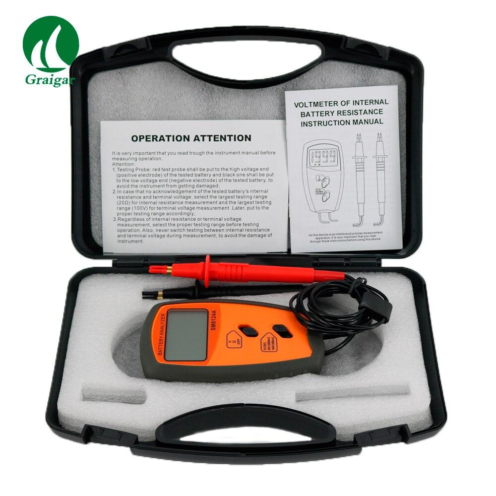 Voltmètre de résistance de batterie interne SM8124 testeur d'impédance
