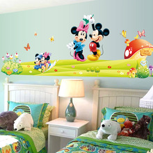 Hot Mickey Mouse Minnie Vinyl Mural Adesivos De Parede Decalques Crianças  Nursery Room Decor Home Decor Part 36