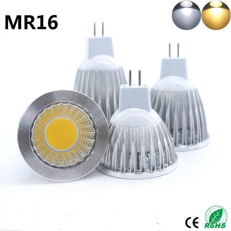 Светодиодный лампы E27 светодиодный светильник E14 GU10 MR16 GU5.3 COB затемнения 9 Вт, 12 Вт, 15 Вт, Bombillas Светодиодный точечный светильник Настольная лампа Светодиодные лампы свет