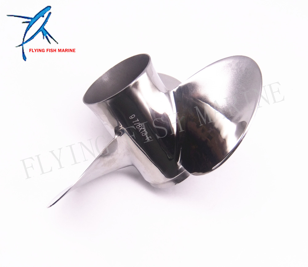 Outboard Engine Stainless Steel Propeller 9 7/8x13-F for Yamaha 20HP 25HP 30HP Boat Motor 9 7/8 x 13 -F 664-45949-02-00
