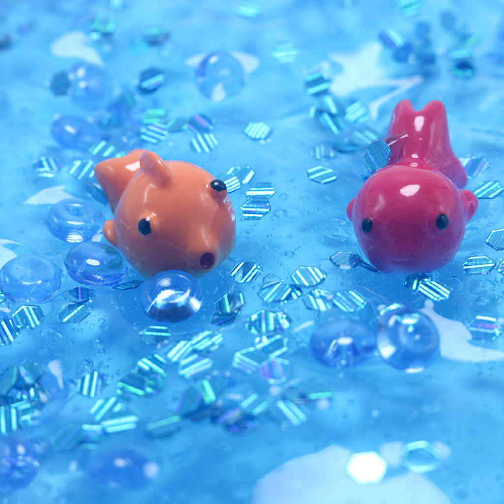 Hot Sale slime soft clay Charm Fishbowl bead Sequin & confetti Colour Goldfish Slime Great Gift Toys clay for slime  #V20