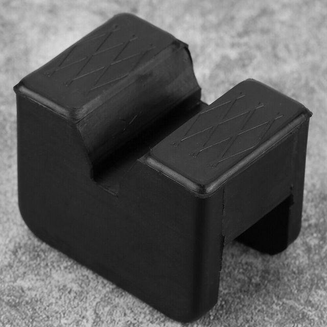 Black Slotted Frame Rail Floor Jack Disk Rubber Pad Fits For Pinch Weld Side HOT