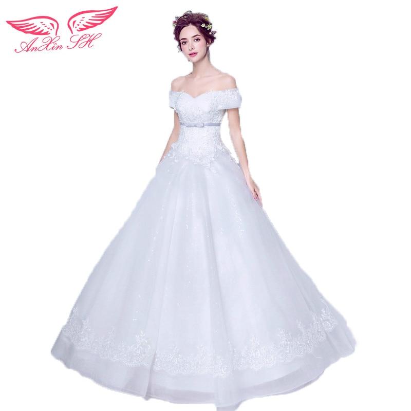 AnXin SH figura Affascinante Senza Spalline sottili alto principessa sposa abito da sposa mostra alta del chiodo del merletto abito da sposa 7582