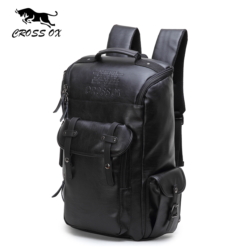 купить  CROSS OX 2017 New Arrival Fashion bags For Men And Women PU Leather backpack big capacity Men bags Hike Shoulder Bag HB561M  недорого