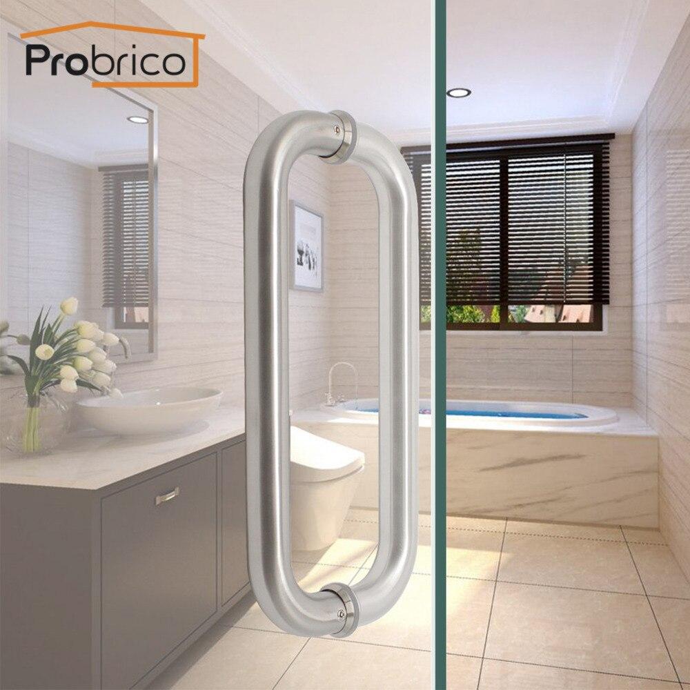 Probrico Door Handles Stainless Steel Oval Arch Hollow Large Door Pull CC 11 Furniture Bathroom Office Glass Door Hardwware