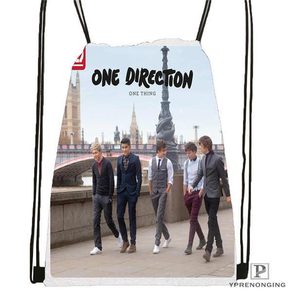Custom One-direction-shoot Drawstring Backpack Bag Cute Daypack Kids Satchel (Black Back) 31x40cm#2018612-01-(8)