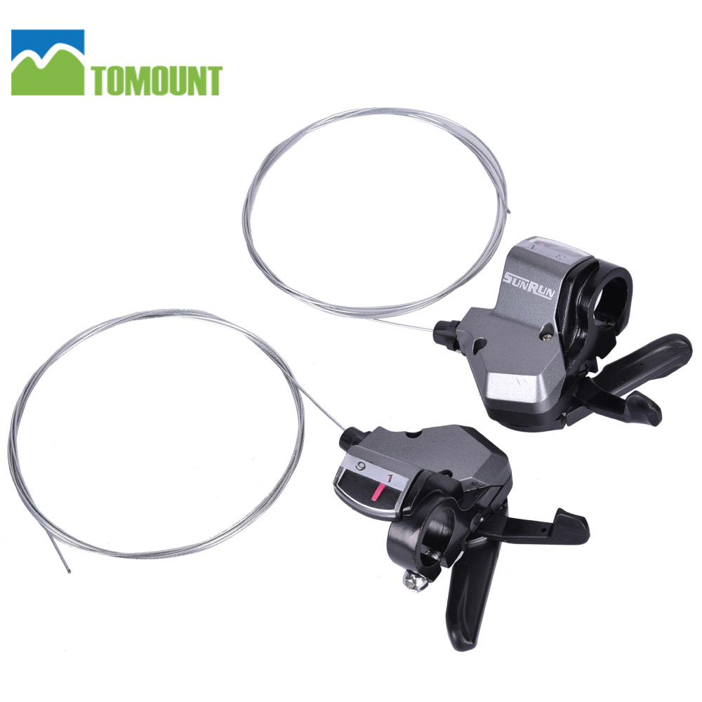 TOMOUNT 3*9 27 Speed Left & Right Trigger Shifter Set MTB Hybrid Bike 3x9 Drivetrains With 2M Cable Bicycle Parts