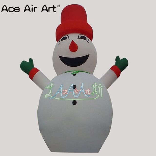 outdoor giant Christmas cartoon Xmax inflatable snowman decoration for promotion
