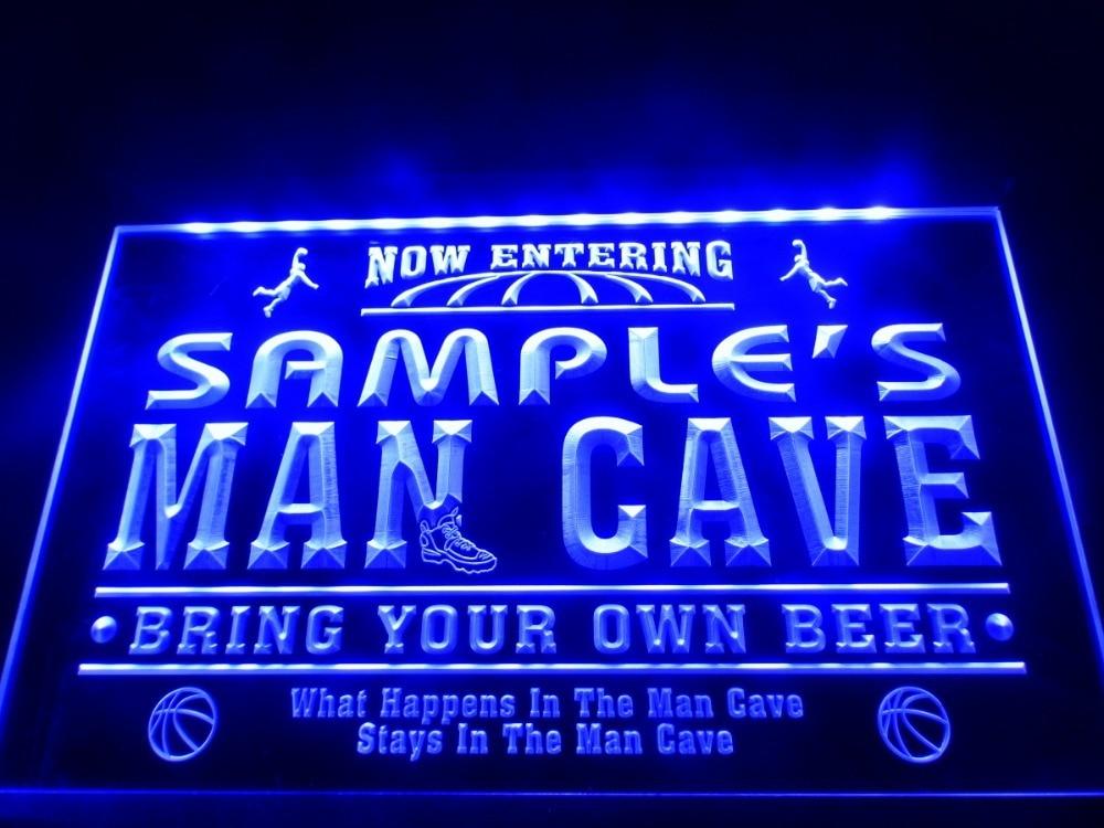 DZ033 Name Personalized Custom Man Cave Basketball Bar LED
