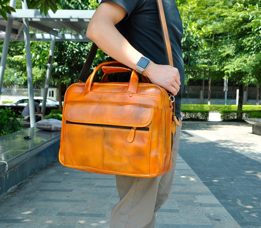 HTB14JvRXmzqK1RjSZFpq6ykSXXad Men Oil Waxy Leather Antique Design Business Briefcase Laptop Document Case Fashion Attache Messenger Bag Tote Portfolio 7146