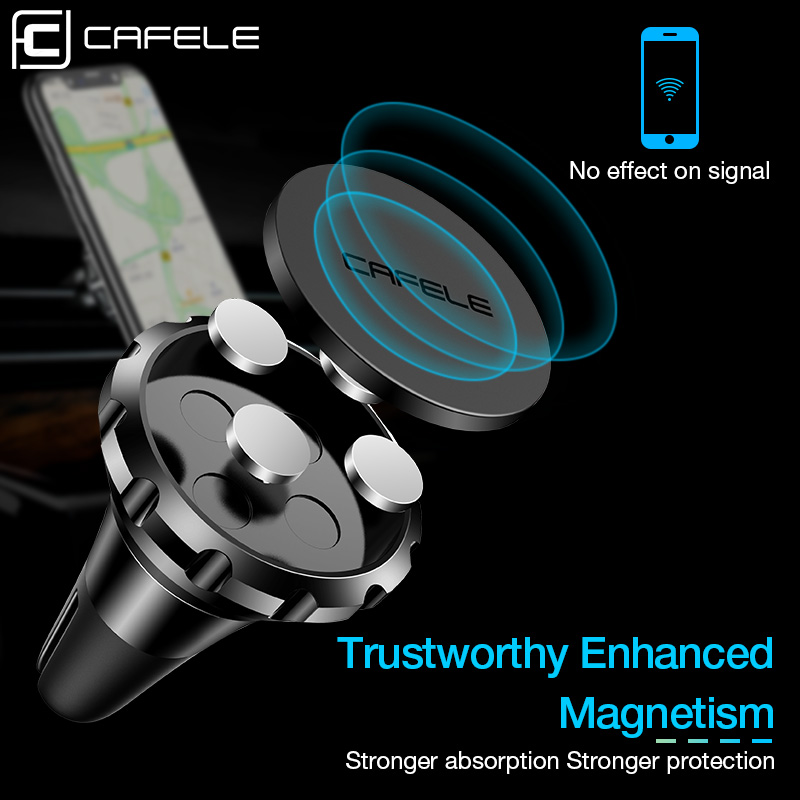 Cafele 360 Degree Rotation Magnetic Car Phone Mount for iPhone X 8 7 Plus Magnetic Phone Car Mount Holder