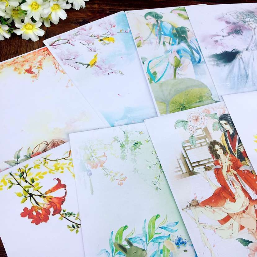 50pcs/lot Old Cartoon Image Small Fresh And Beautiful Retro Postcard Decorated With Miniature 17.5*12cm Gift Envelopes 22colour Mail & Shipping Supplies Office & School Supplies