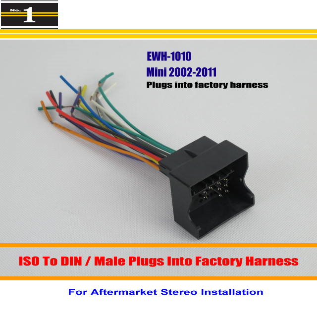 Car Wiring Harness For Mini Cooper Cooper S Convertable 2002 2011 Car Stereo Adapter Connector Plugs diagrams 8001049 rover mini cooper auto electrical wiring 2002 mini cooper wiring diagram at n-0.co