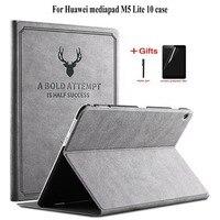 Тонкий ретро чехол из искусственной кожи для Huawei MediaPad M5 Lite 10 BAH2-L09 W19 Tablet Funda чехол-подставка для Huawei m5 lite 10 чехол + подарки