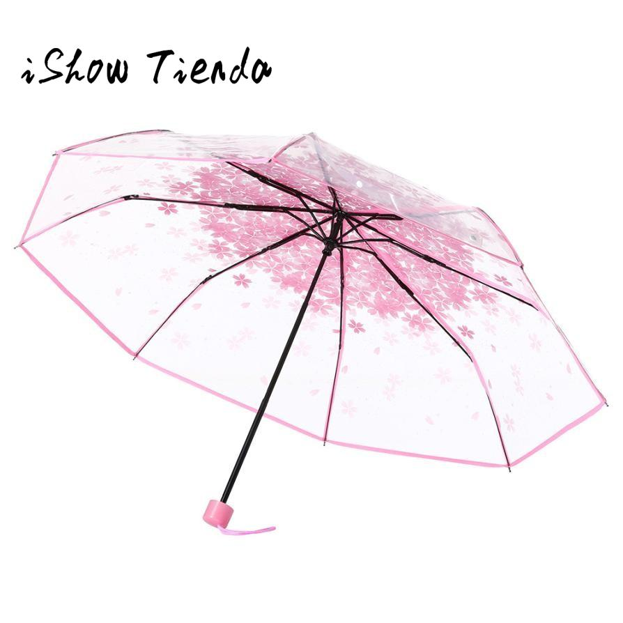 Claro Transparente Paraguas flor de cerezo de Apollo Sakura 3 Paraguas Plegable Transparente # B0