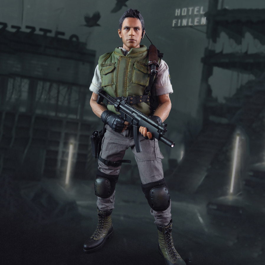 Collectible 1/6 Scale Resident Evil Chris Redfield Action Figure Full Set With Seamless Body Figure 1 6 scale resident evil 6 leon scott kennedy full set action figure for collections