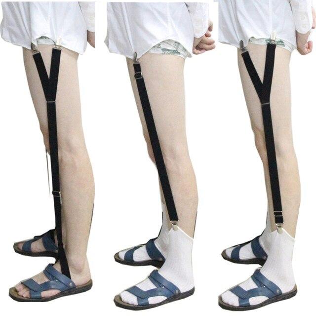 Mens Shirt Garters Stays Business Suspenders Braces Men Garter Belt For  Shirts Gentleman Elastic Military Shirt