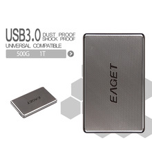 Original Eaget G50 500GB 1TB HDD 2.5 High-speed Stainless Steel Hard Encryption Shockproof USB3.0 External Hard Drives Disk HDD