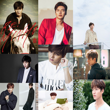 Lee MinHo Famous Korean male star White cardboard poster Wall Stickers Home Bar Posters Decor