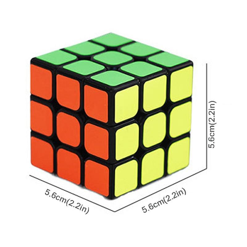 Новый 57 мм Непоседа куб профессиональный Скорость magic cube блок головоломки три слоя Cubo magico образования Игрушечные лошадки Логические подарк...