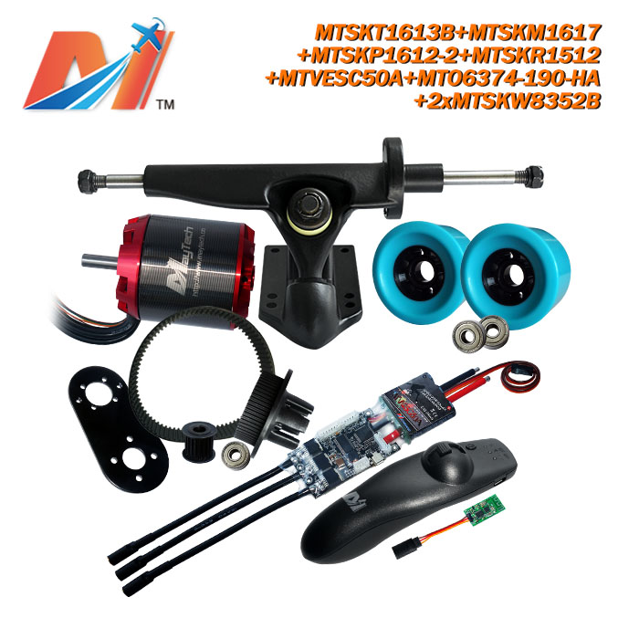 Maytech e longboard SuperESc Based on vesc controller and <font><b>6374</b></font> <font><b>190kv</b></font> big <font><b>brushless</b></font> <font><b>motor</b></font> and electric longboard pulley image