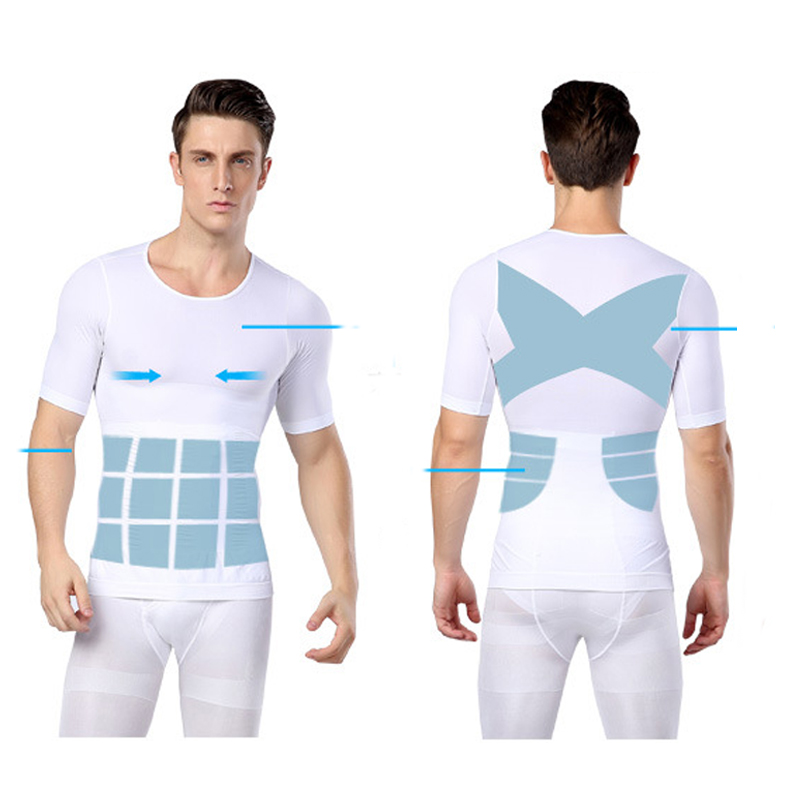 Male Body Shaper Tops Man Waist Trainer Corset Slimming Belly Bodybuilding Shirts Control Tummy Posture Corrector Shapers