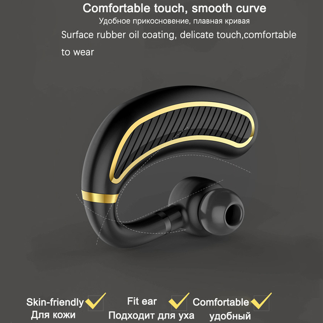 TEBAURRY Business Bluetooth Earphone Wireless Headphone With Mic 24 Hours Work Time Bluetooth Headset for phone iphone xiaomi