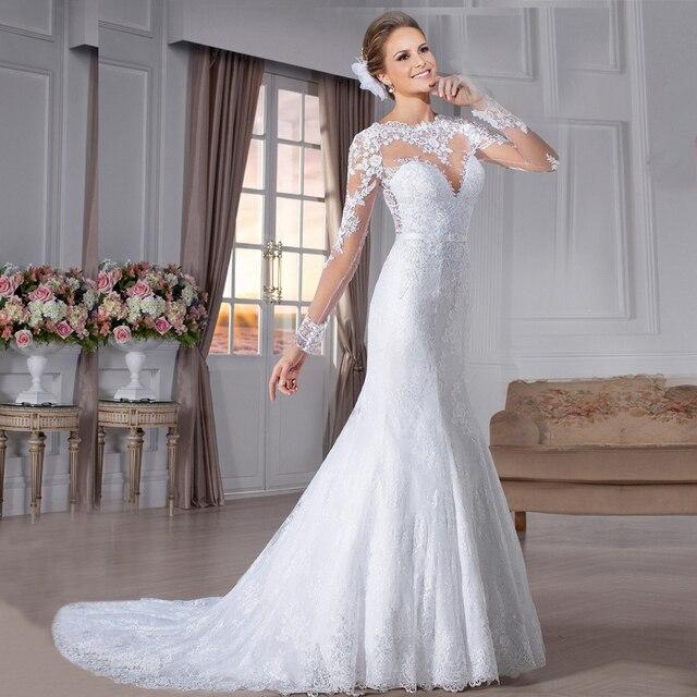 stc028 robe de mariage popular bridal gowns wedding elegant vestido de noiva long sleeves wedding dress - Aliexpress Mariage