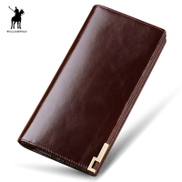 WILLIAMPOLO 2017 Male Genuine Leather Men Wallet Luxury Purse Leather Wallet Men 11 Card Holders New