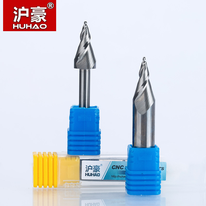 HUHAO 1pc 6mm 12mm Mini Engraving Bits Chamfer End Mill For Acrylic Glassfiber Plywood CNC Milling Cutter Router Bits For Wood 10pcs box 1 8 inch 0 8 3 17mm pcb engraving cutter rotary cnc end mill milling cuter drill bits