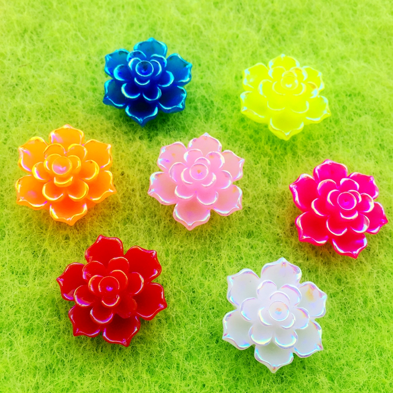 Wedding Flowers In Resin: Aliexpress.com : Buy 100pcs 18mm Mix Flower Resin Flat