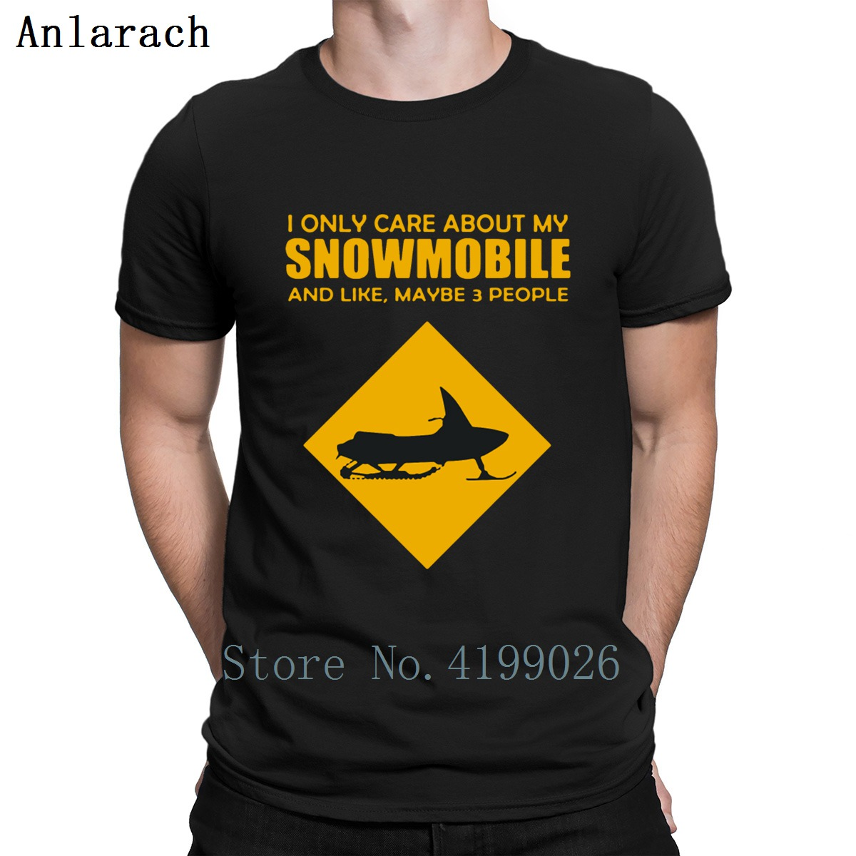 2fe5a9d19a95c I Only Care About My Snowmobile T Shirt Fitness Family Summer Style Custom  Fitness Clothing Hip Hop Round Collar Funny Trend