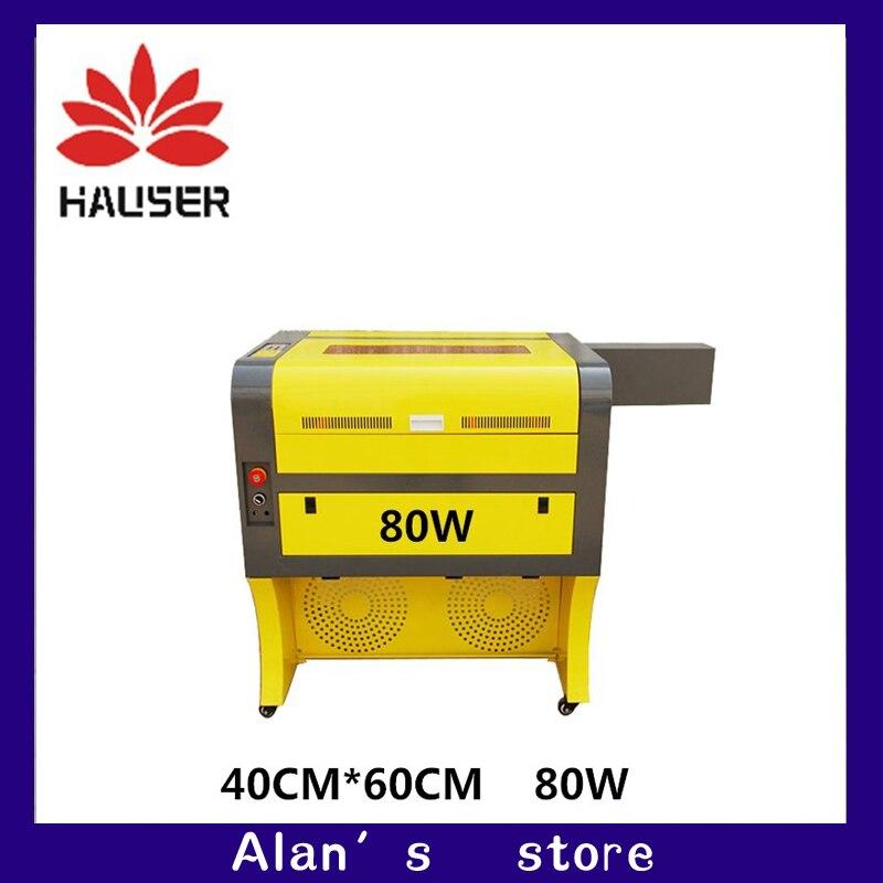 Free shipping 80w 4060 co2 laser engraving machine laser cutter machine laser cnc engraver machine laser marking machine