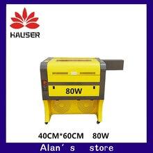 Бесплатная доставка 80w4060 co2 лазерной гравировки, 220v110V ЧПУ лазерная cutt машины, Гравировальный машина, лазерная маркировка машина