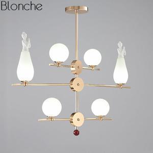 5e86c67fee8c Glass Ball Led Hanging Lamp Modern Angel Pendant Lights Industrial Hanglamp  Dining