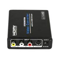 1080P Composite AV RCA S Video To HDMI 4K 2k Scaler Video Audio Converter Adapter Box
