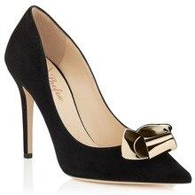 Frauen Black & Blue & Beige Wildleder Punkt Toe Pumps Mental Charme High Heels Schuhe für Frau, Plus größe 5-14, zapatos mujer tacon sapato
