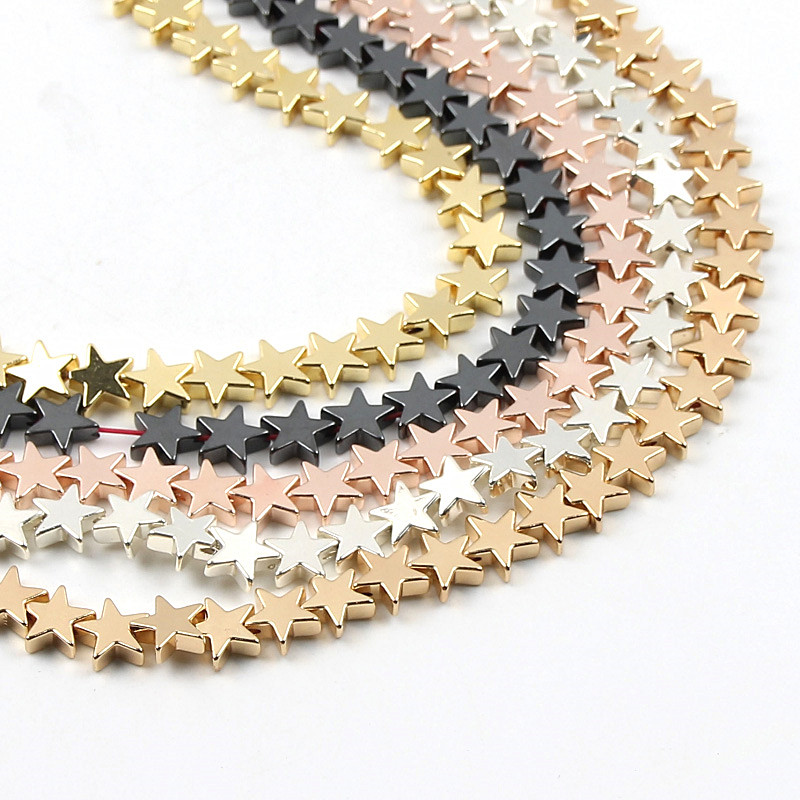 Star Candy Color Hematite Beads DIY Color Flat Beads Production Creative Jewelry Necklace Bracelet Accessories(China)