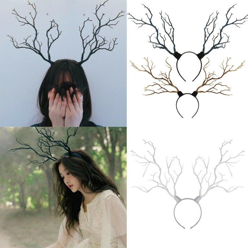 Halloween Headwear Deer Horn Headdress Antlers Fantasy Costume Fairy Headpiece Hair Accessories