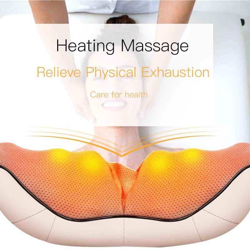 Elétrico Shiatsu Cervicale masseur de cou De Massage Cervical Corps Massageador Relax Rouleaux de Masajeador Acupressure Santé Massagem - 2