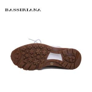 Image 5 - BASSIRIANA mùa đông mới giản dị giày có đế dày, phụ nữ thời trang da tự nhiên lông thú tự nhiên giày giày ấm áp với phẳng duy nhất