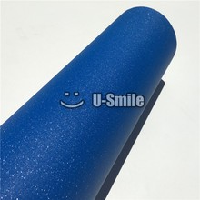 High Quality Deep Blue Glitter Sand Diamond Vinyl Sticker Film Bubble Free For Phone Laptop Ipad Cover Size:1.52*30M