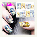 Wolf and Girl Manicure Nail Sticker Gradient Stick On Decals 8135 Water Transfer DIY Tips Nail Art