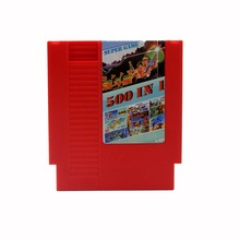 Red 500-In-1 Video Game Card For 72 Pin 8 Bit Game Player Large Capacity Family  Game Cartridge For Family Computer NES Console