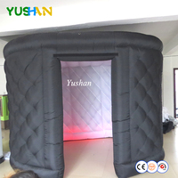 11ft large size 1 door Black Oval Photo booth enclosure tent with LED strip on bottom Photo booth backdrop For Parties ,Weddings