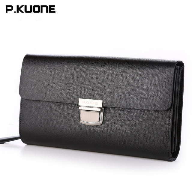 Famous Brand Men Wallets Luxury Password Lock Wallet Men Genuine Leather  Clutch Bag Natural Cowhide Purses Large Capacity ba72acd486776